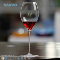 SANZO Food Grade Hand Drawing Blue Stem Wine Glass