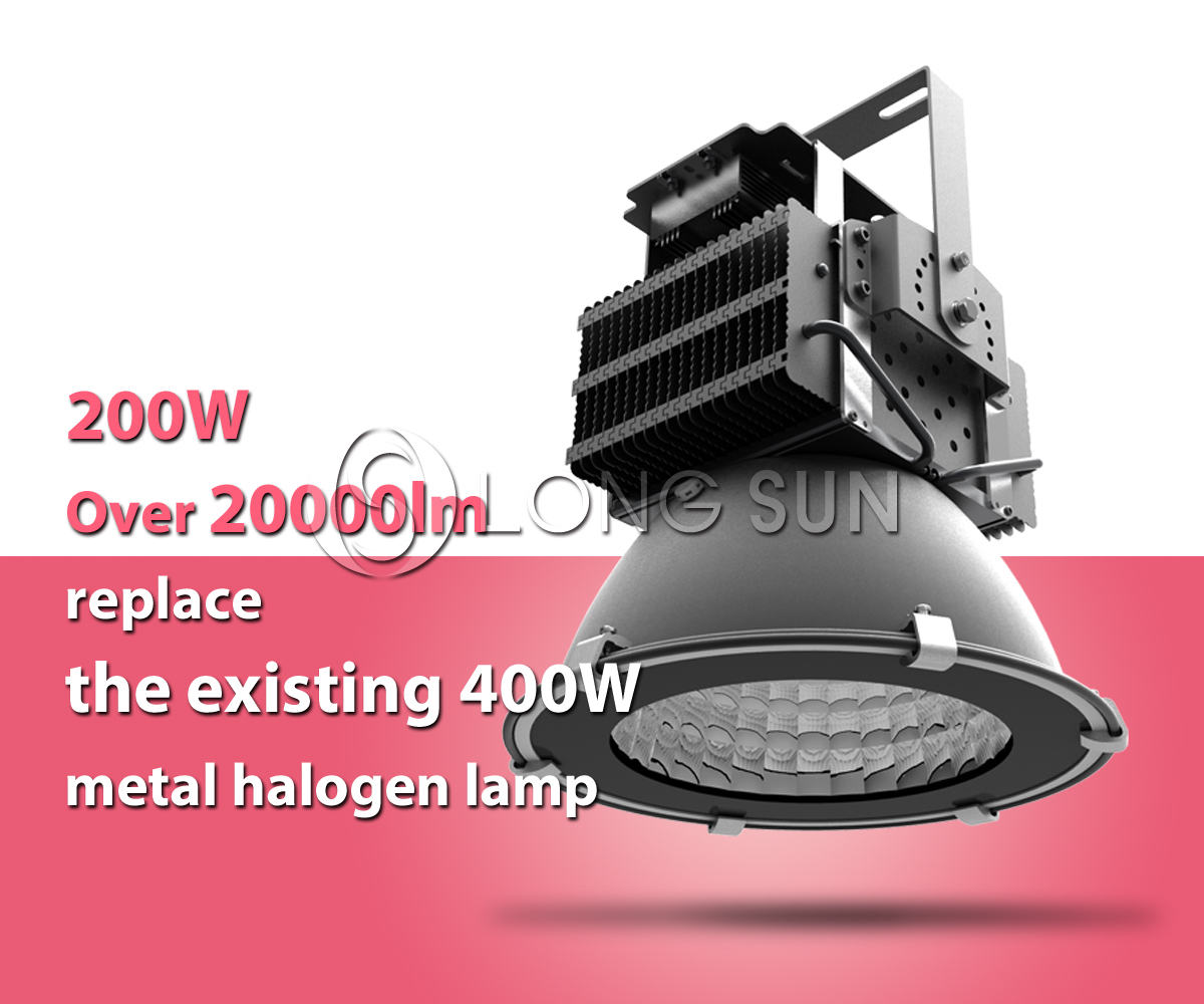 400W surface mounted high power led high bay light fixtures