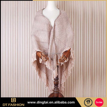 Hot sale acrylic cashmere feel knitted jacquard scarf