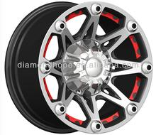 Black chrome alloy mag racing wheels with 16 inch, 17 inch, 18inch 20inch (ZW-X808)
