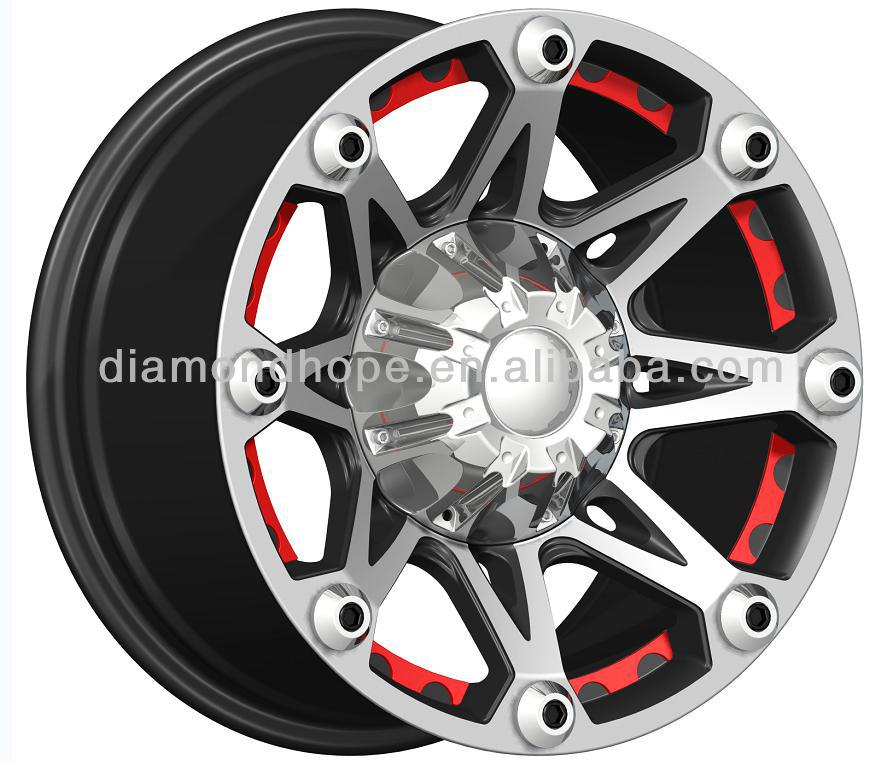 "Black concave alloy mag wheels with 16 inch, 17 inch, 18"" 20"" (ZW-X808)"