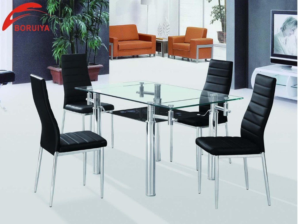 Modern Furniture Design Imported Glass Dining Table  : Modern furniture design Imported glass dining table from www.alibaba.com size 1000 x 752 jpeg 136kB