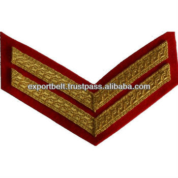 Military Uniform Rank Chevron, Uniform Rank Marks Shoulder Badges Embroidered Epaulettes Chevron