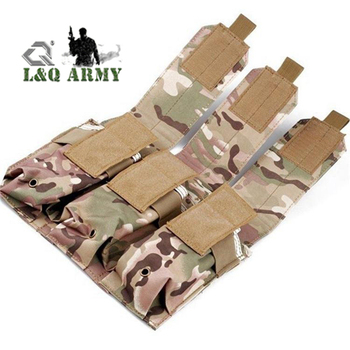 Outdoor Camouflage Bag Molle Triple Magazine Pouch Mag Holder