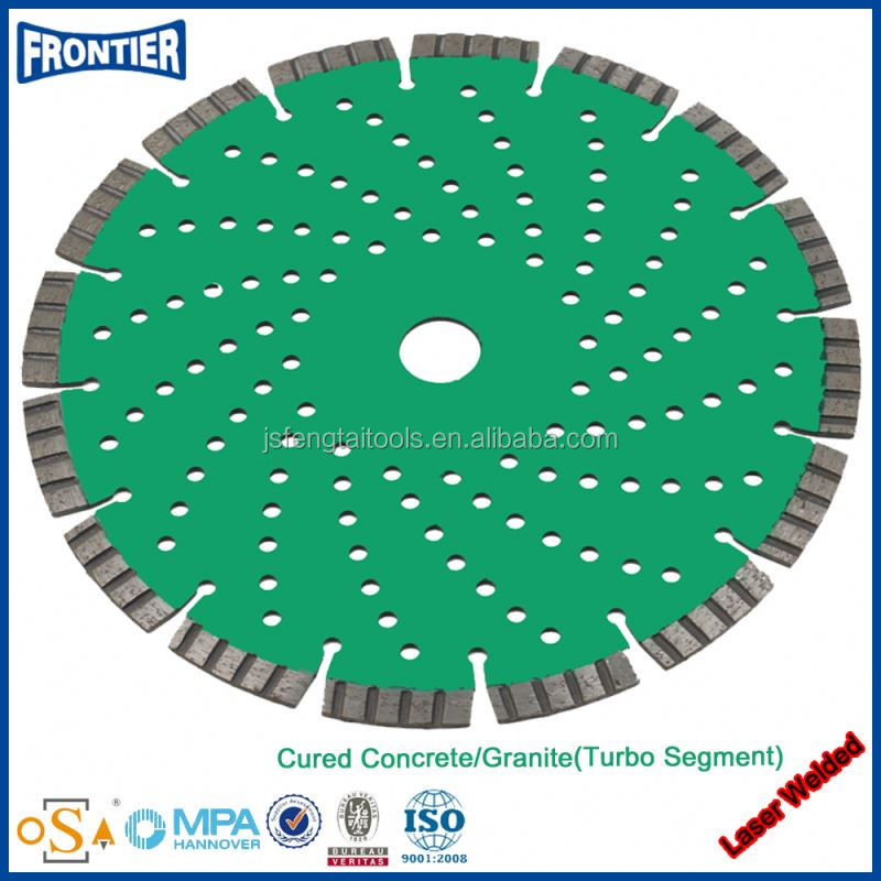 Laser welded concrete cutting saw blade--Safe and easy operation