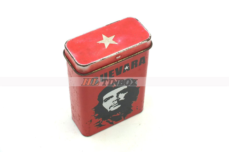 High Quality Hinged Rectangular Cigarette Tin Can with Customized Printing