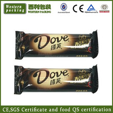 Chocolate bar packaging material, packaging material sachet