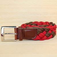 colorful handmade braided belt with alloy buckle