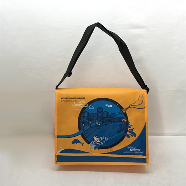 Laminated pp non woven custom messenger school bag for kids