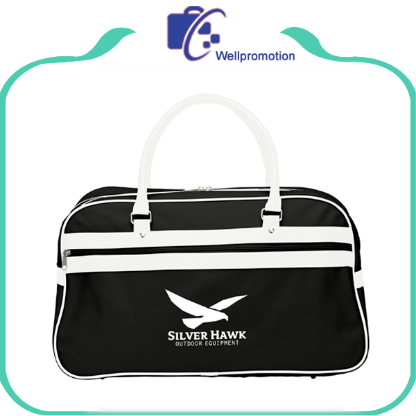 Custom Mens Waterproof PVC/PU leather Retro Bowling Gym Duffle Sports Bag Wholesale