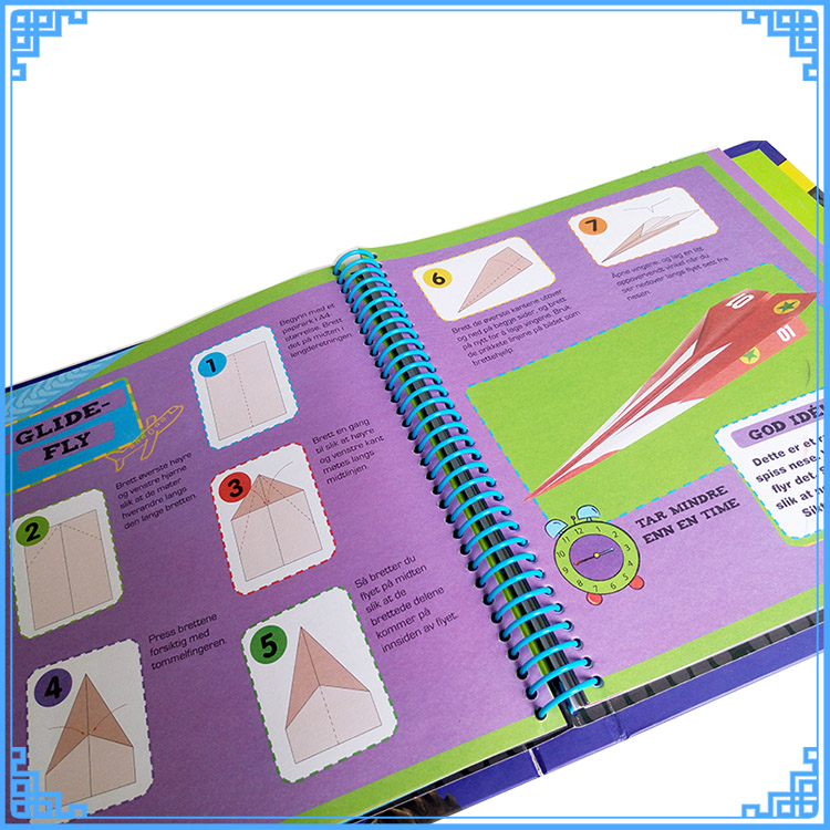 New Creative Spiral book printing, sticker book, gift for kids