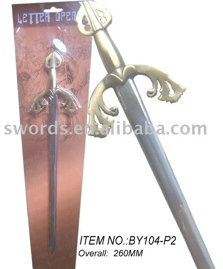 Letter Opener paper knifes metal letter opener Craft sword BY104-P2