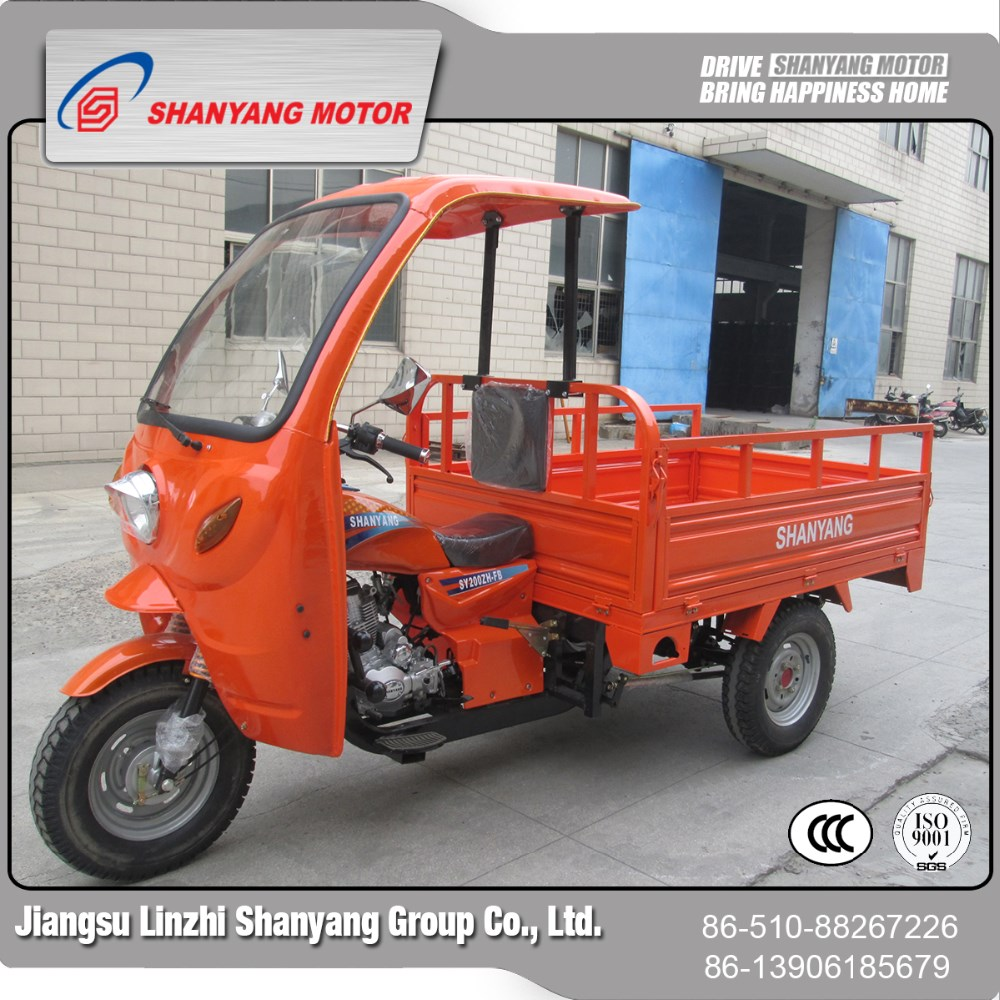Driver cabin china gasoline three wheel motorcycle