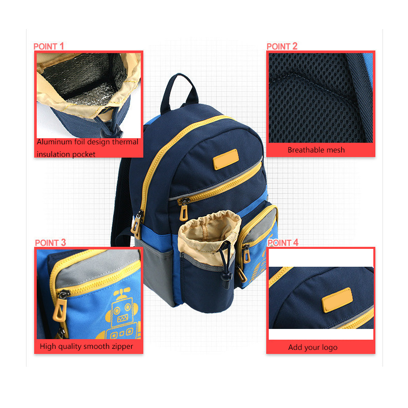 New Design Best School Bag Backpack For Kids With Bottle Compartment