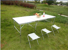 6 feet portable 3 folding table for outdoor use