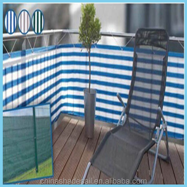 2016 high quality plastic balcony window privacy screen