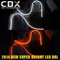 High Quality LED Daytime Running Light with Turning Light Dual Colors 60CM Flexible DRL Easy DIY to Any Car Headlight
