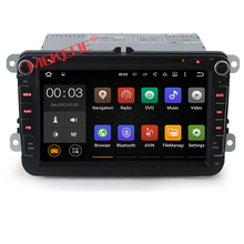 8 inch cheap price android 7.1 car dvd player audio for VW MAGOTAN/PASSAT/ GOLF/CC/POLO with 4G WIFI GPS navigation2GRam 16G Rom