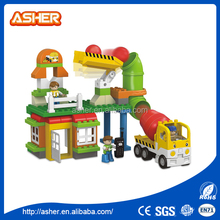 Children learning hot sale funny diy plastic building blocks gears