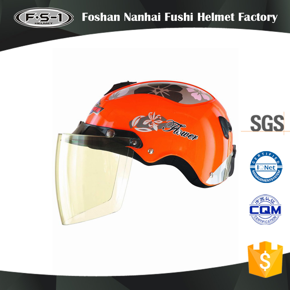 Cheap price ladies decals open face scooter helmets moped airbrush helmet half face