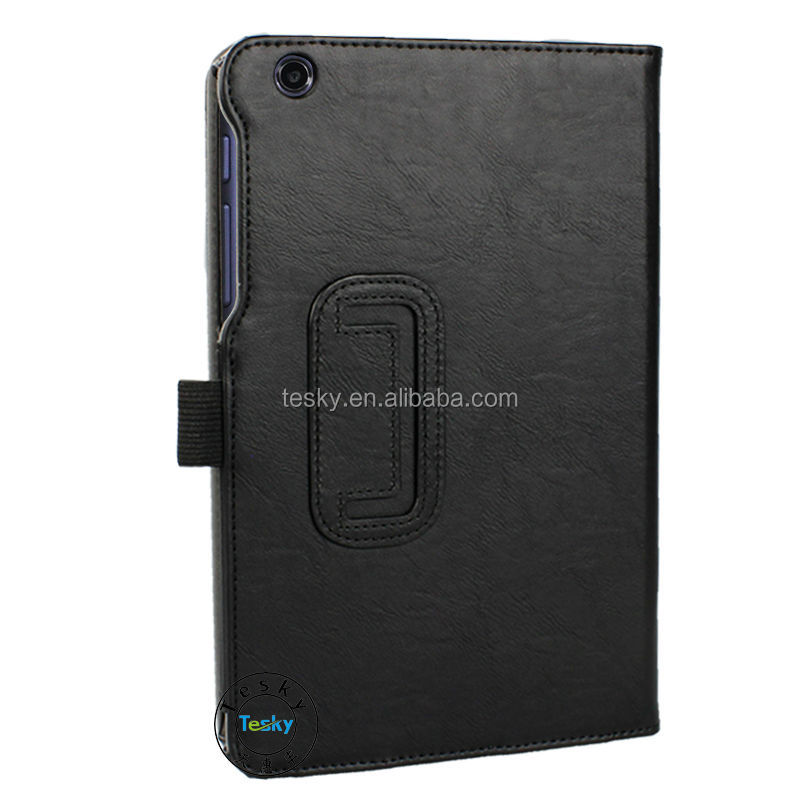 PU Leather Case For Lenovo A8-50 A5500 8 Inch Tablet PC Protective Case Sleeve - Black