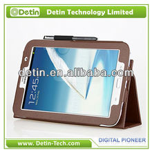 "Leather case for Samsung Galaxy Tab 2 P5100 10.1"" with Pen Clip"