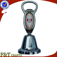 Custom and promotional metal souvenir dinner bell and bottle opener