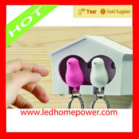 Love nest bird whistle key chain supplier from china