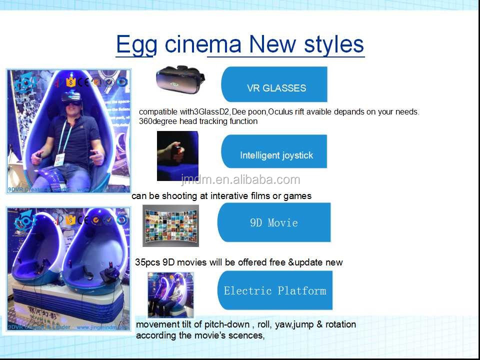 EU franchise 9d vr simulator roller coaster 9d egg vr cinema with CE, audit factory
