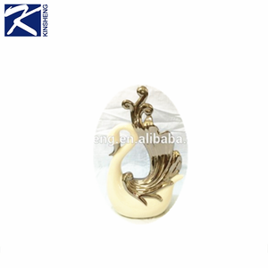 wedding favors gifts glazed white porcelain swan statue