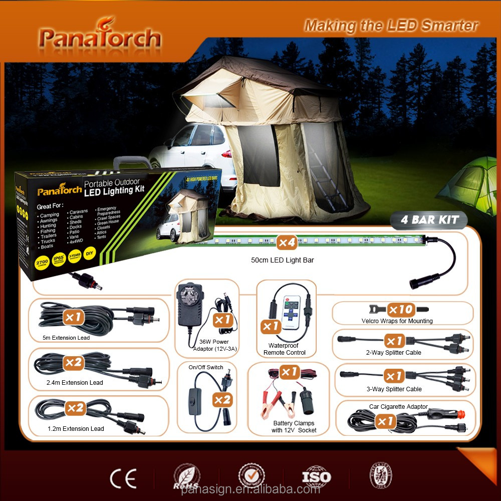 PanaTorch Metal box Rigid LED Camping Light Kit PS-C5530A private customized For awning