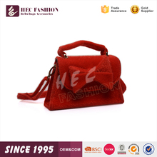HEC Good Quality Wenzhou Manufacturer Wholesale Red Bowknot Decorated Kid Child Travel Bag