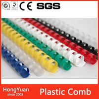 Rubber & Plastics plastic comb ring comb binding, plastic combs ring spiral binders for binding book, plastic comb clips
