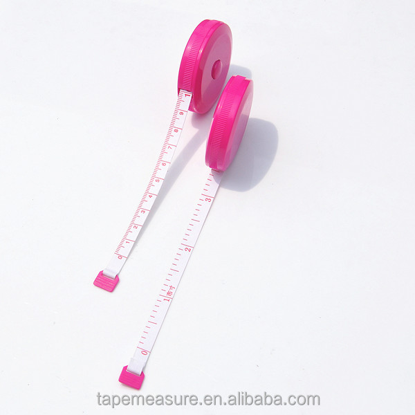 150cm clothing centimeter meter pink measuring tape auto stop tape measure for children printed Logo or Name