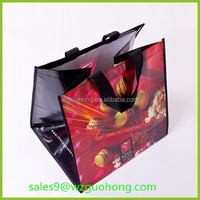 Reusable and eco-friendly pp non woven cloth printed promotional gift bag