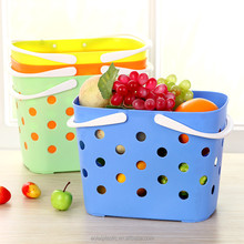 Kitchen And Bathroom Multi-functional Plastic Handy Storage Basket W Handles