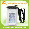 Best sale clear PVC waterproof mobile phone bag with lanyard