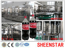 Automatic carbonated drink beverage filling process line