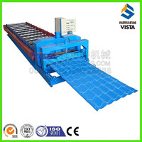 manufacture press machinery metal roof tile, glazed corrugation steel roof forming machine