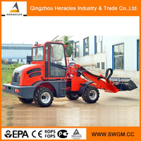 Self levering telescopic wheel loader