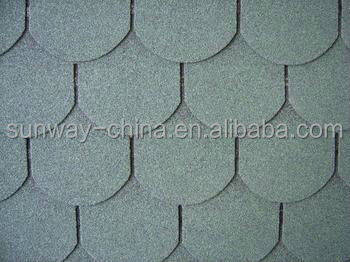 Fish-scale Type Asphalt Shingles in Dertand Tan with best price