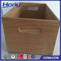 China Ash Wood Box without Lid for Small Product Packaging,Crates Boxes W/Handle