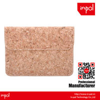 for women high quality plain magnetic cork leather back cover for ipad mini