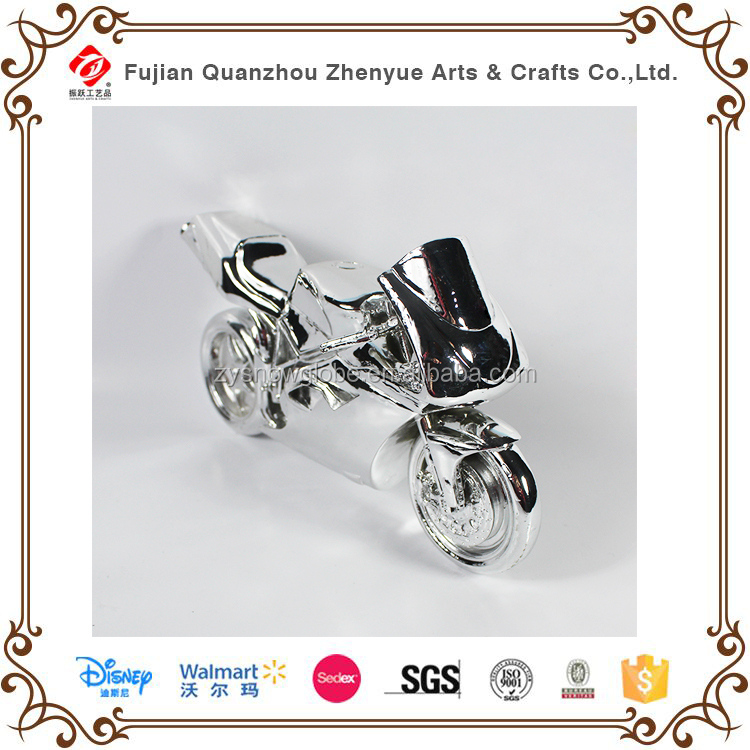 2015 gold-painted polyresin diecast vintage motorcycle models