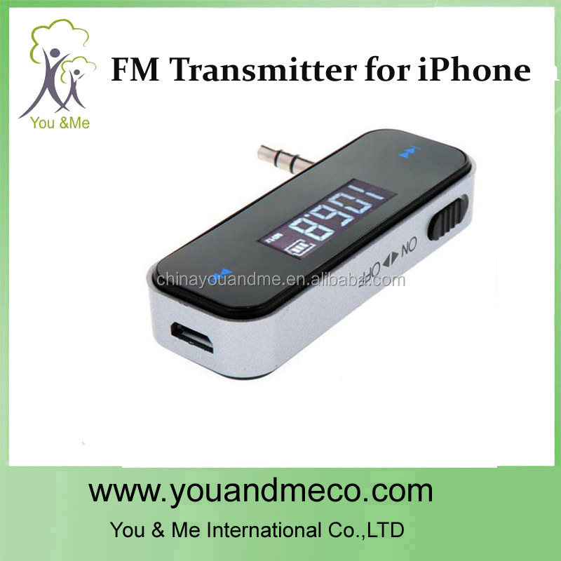 2013 Newest NEW Mini Wireless 3.5MM FM Transmitter for iPod iTouch iPhone 3G 4G