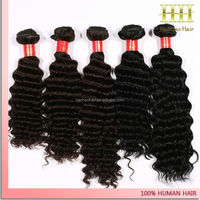 2016 Alibaba china express hair weft deep wave human hair for braiding
