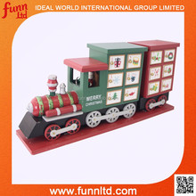 Wooden Advent Calendar Toy Train Christmas Indoor Decorations for Saving Candy