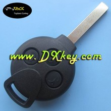 Topbest blank key blank for B-enz Smart 3 button remote car key shell without logo motorcycle key blank