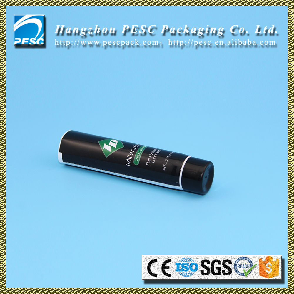 Black plastic barrier laminated tubes for silicone lubricant 12ml