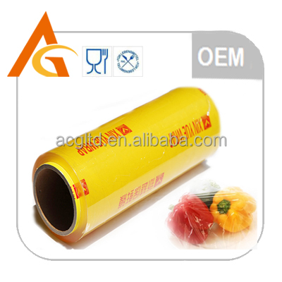 Transparent pvc cling film for food jumbo roll 2500m per roll